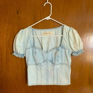 We The Free Clover Canyon Denim Top
